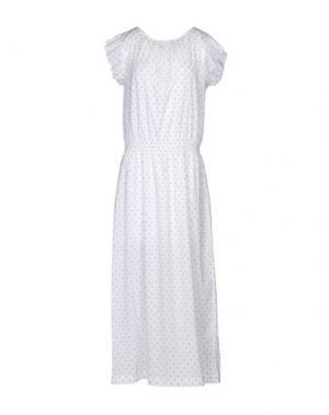 Длинное платье ZHELDA. Цвет: белый