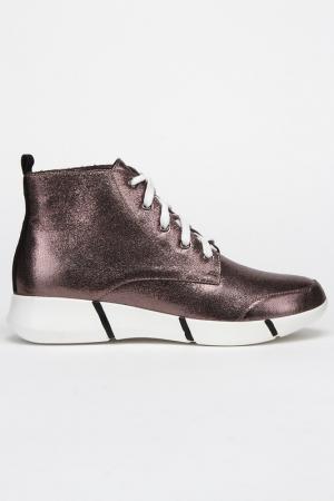 Ботинки CESARE CORRENTI. Цвет: серебряный
