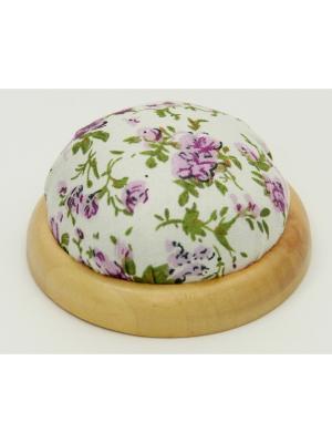 Игольница-подушечка Фиолетовые цветы Magic Home. Цвет: белый