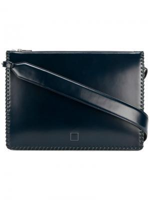 Сумка для ноутбука с простроченной отделкой Wooyoungmi. Цвет: синий