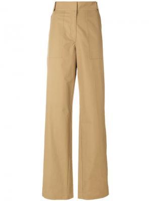Широкие брюки  с завышенной талией Ottolinger. Цвет: телесный