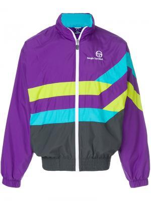90s jacket Sergio Tacchini. Цвет: розовый и фиолетовый