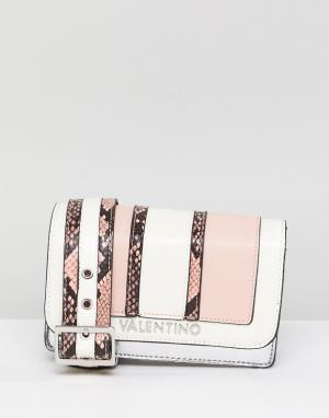 Valentino by Mario Розовая сумка через плечо из искусственной змеиной кожи M. Цвет: розовый