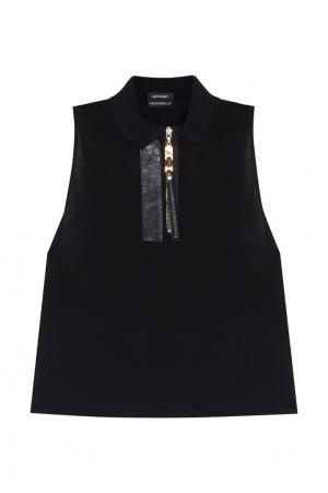 Однотонная блузка Anthony Vaccarello. Цвет: черный