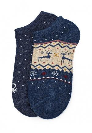 Комплект носков 2 пары United Colors of Benetton. Цвет: синий