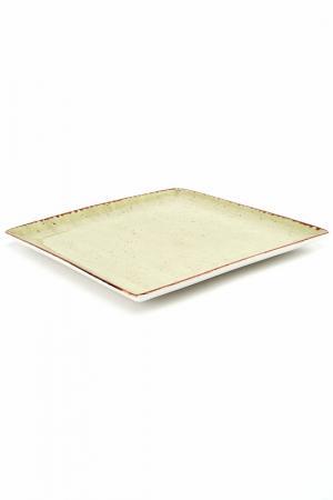 Тарелка квадратная 26,5х26,5см CONTINENTAL. Цвет: зеленый