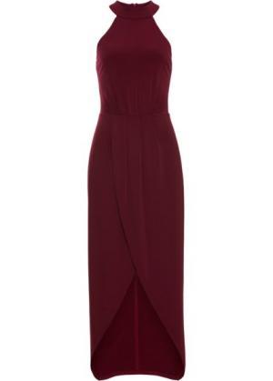 Длинное платье (темно-красный) bonprix. Цвет: темно-красный