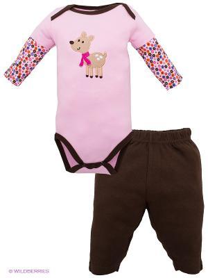 Комплект Hudson Baby. Цвет: коричневый, розовый