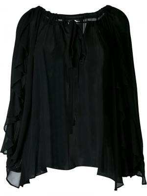 Драпированная блузка DressCamp. Цвет: чёрный