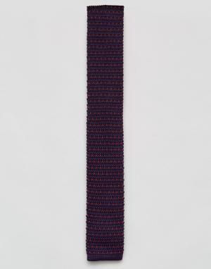 7X Трикотажный галстук. Цвет: фиолетовый