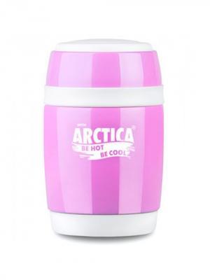 Термос-бочонок бытовой вакуумный для еды, 380мл Арктика. Цвет: розовый