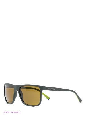 Очки солнцезащитные OVER-MOLDED RUBEBR DOLCE & GABBANA. Цвет: темно-зеленый