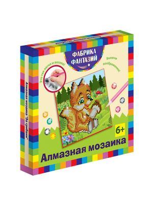 Алмазная мозаика За грибами, размер 15х15 см Фабрика Фантазий. Цвет: черный, белый, зеленый, красный, светло-желтый, светло-коричневый, серый, фиолетовый