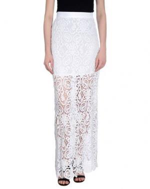 Длинная юбка MIGUELINA. Цвет: белый