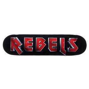 Дека для скейтборда  Maiden Fiberglass Black 31.75 x 8.1 (20.6 см) Rebels. Цвет: черный,красный