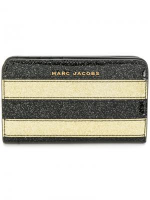 Кошелек с блестками Marc Jacobs. Цвет: чёрный