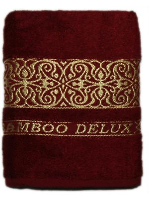 Полотенце ЛЮКС 50*90, 100% бамбук Dorothy's Нome. Цвет: бордовый