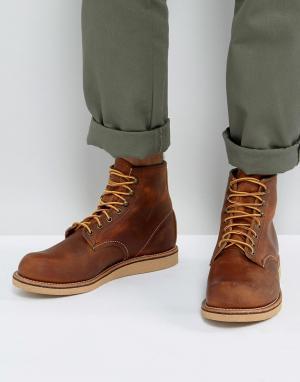Red Wing Кожаные ботинки медного цвета со шнуровкой. Цвет: коричневый