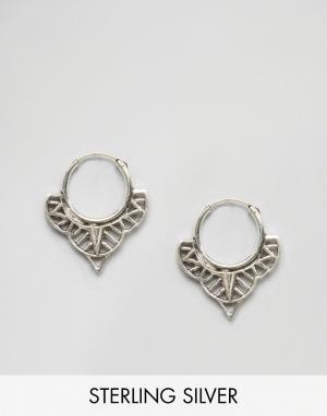 Fashionology Серебряные серьги-кольца. Цвет: серебряный