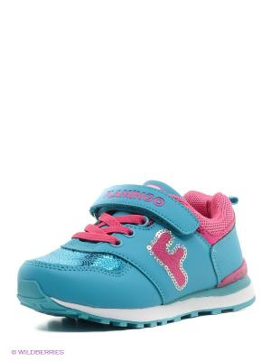 Кроссовки Flamingo. Цвет: голубой