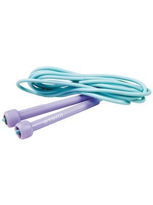 Скакалка пластиковая Atemi 2.4м, AJR-02. Цвет: голубой