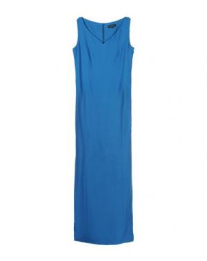 Длинное платье IVAN MONTESI. Цвет: лазурный
