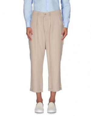 Повседневные брюки 26.7 TWENTYSIXSEVEN. Цвет: бежевый