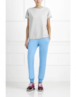 Хлопковые брюки BLANK.MOSCOW. Цвет: голубой