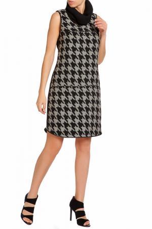 Платье LEIDIRO. Цвет: черно-серый