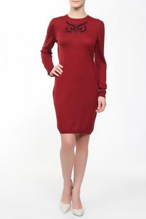 Платье Whos Who Who's. Цвет: бордовый