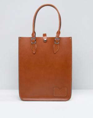 Leather Satchel Company Сумка-тоут. Цвет: рыжий