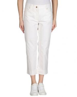 Джинсовые брюки METRADAMO. Цвет: белый
