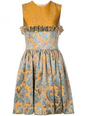 Коктейльное платье Jourden. Цвет: жёлтый и оранжевый