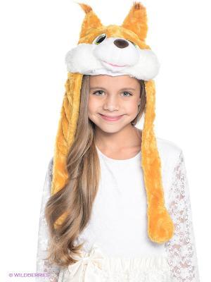 Шапочка Белочка Карнавалия. Цвет: желтый, белый