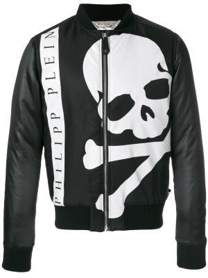 Куртка-бомбер с принтом черепа Philipp Plein. Цвет: чёрный