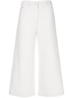 Укороченные расклешенные брюки Christian Wijnants. Цвет: белый