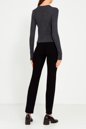 Черные брюки Knittedkiss. Цвет: черный