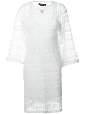 Ажурное платье Agate Isabel Marant. Цвет: белый
