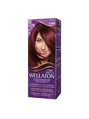 Крем-краска для волос стойкая 5/66 Баклажан WELLATON. Цвет: фиолетовый