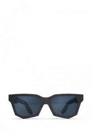 Очки солнцезащитные Woodsun. Цвет: черный