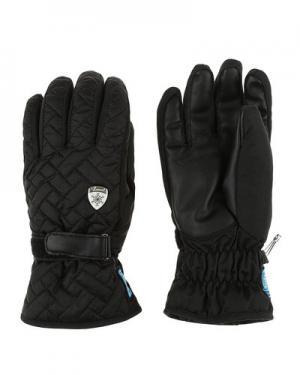 Лыжные перчатки level. Цвет: черный