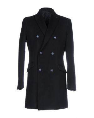 Пальто SSEINSE. Цвет: темно-синий