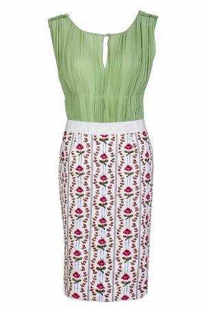 Платье FHILOSOPHY DI ALBERTA FERRETTI. Цвет: зеленый