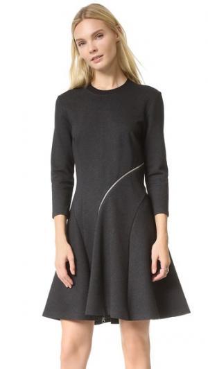 Платье Ergonomic с молнией McQ - Alexander McQueen. Цвет: серый