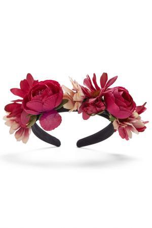 Ободок для волос Nothing but Love. Цвет: ярко-малиново-розовый, зеленый