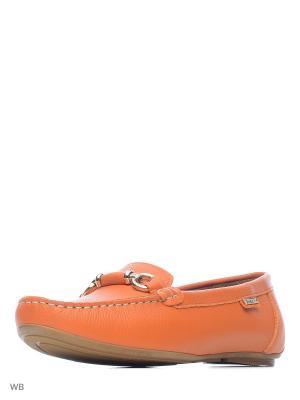 Мокасины AVENUE by GIOTTO. Цвет: оранжевый