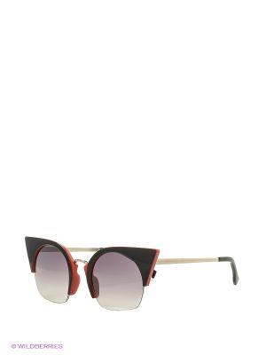 Солнцезащитные очки Vita pelle. Цвет: красный, черный