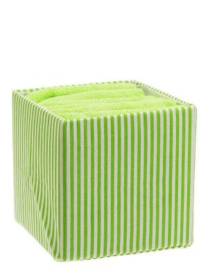 Набор полотенец в корзине Линии Miolla. Цвет: зеленый