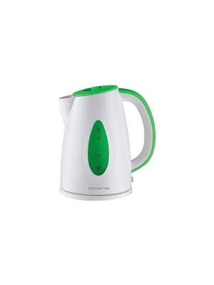 Чайник PWK 1752C 1.7л. 2200Вт Polaris. Цвет: зеленый, белый