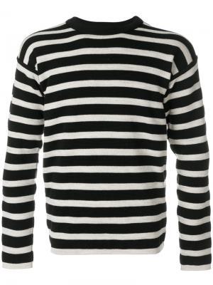 Полосатый свитер S.N.S. Herning. Цвет: чёрный